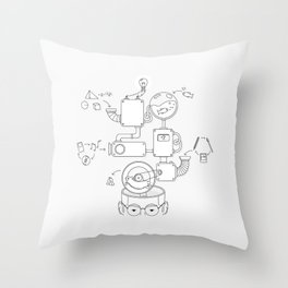 How the creative brain works? Throw Pillow
