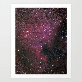 The North American Nebula Art Print