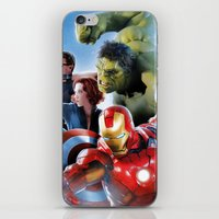super heroes iPhone & iPod Skins featuring Super Heroes by Tom Lee