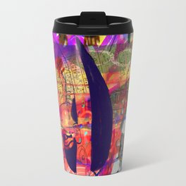 Cave painting with Egyptian Gods Travel Mug