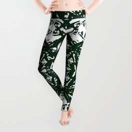 Abstract Carving: Green Leggings