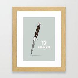 12 Angry Men - Alternative Movie Poster Framed Art Print