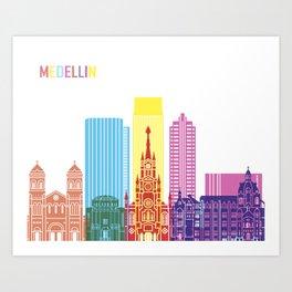 Medellin skyline pop Art Print