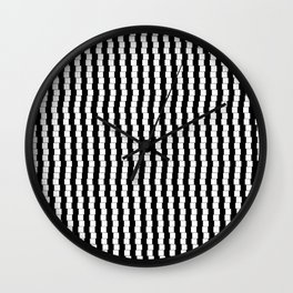 Offset Black and White Lines Wall Clock