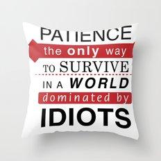 Patience Typo Throw Pillow