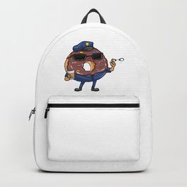 Police officer with sunglasses and handcuffs Backpack