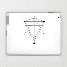 Triangle planets geometry white Laptop & iPad Skin