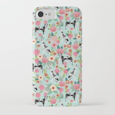 Great Dane dog breed florals mint pattern print for dog owner with great dane must have gifts Slim Case iPhone 7