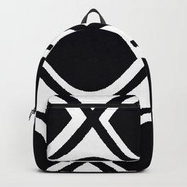 BLACK AND WHITE RANDOM GRAPHIC Backpack