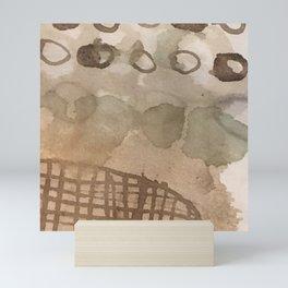 The weight of each drop Mini Art Print