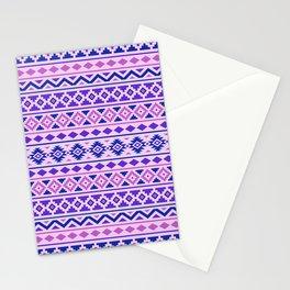 Aztec Essence Pattern II Pinks Blue Purple Stationery Cards
