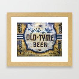 Vermont Brewers Series Fiddlehead Framed Art Print