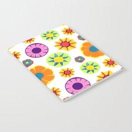Flower Pattern-Orange Notebook