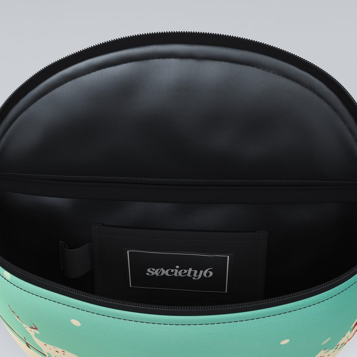 Peaceful Snowy Christmas (Teal) Fanny Pack
