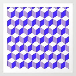 Diamond Repeating Pattern In Nebulas Blue and Grey Art Print