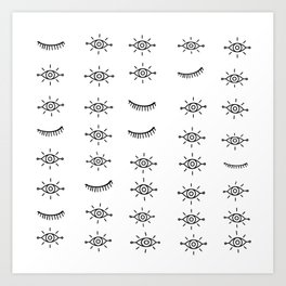 Eyes All Over Art Print