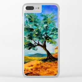 Olive Tree on the Hills Clear iPhone Case