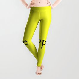 Be Happy - Black and Yellow Design Leggings