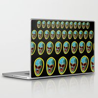 majoras mask Laptop & iPad Skins featuring mask by mark ashkenazi