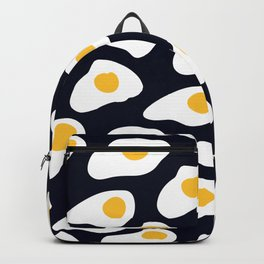 Eggs pattern on black Backpack
