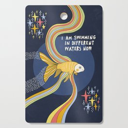 Swimming in different waters Cutting Board