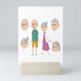 Happy National Grandparents Day Mini Art Print