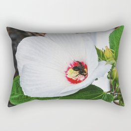 The Flower and the Bee Rectangular Pillow