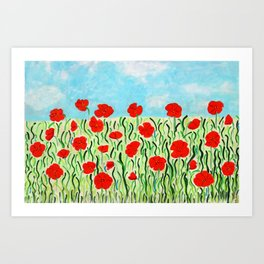 Everything's Popping Up Poppies! Art Print