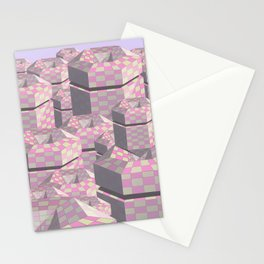 Geometric city. Stationery Cards