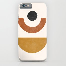 Mid Century Abstract Geometric Shapes, Terracotta Half Circles, Boho Decor, Earth Tones Phases iPhone Case