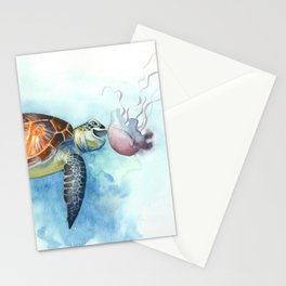 Turtle Noms Stationery Cards