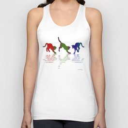 CATS RAINBOW II Unisex Tank Top
