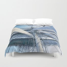Nautical Sailing Adventure Duvet Cover