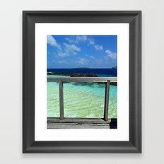 Maldivian balcony Framed Art Print