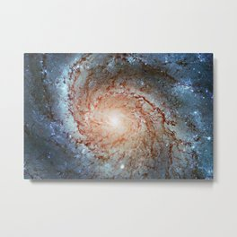 Pinwheel Galaxy Messier 101, M101 in the constellation Ursa Major Metal Print