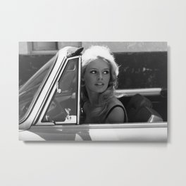 Brigitte Bardot in Barcelona black and white photography / photographs Metal Print