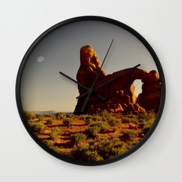 Turret Arch at sunset. Wall Clock