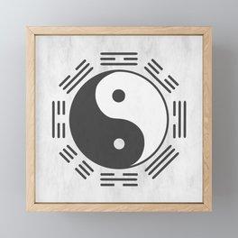 yin yang feng shui Framed Mini Art Print