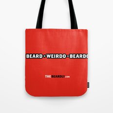 BEARD + WEIRDO = BEARDO. Tote Bag