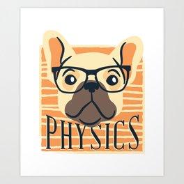 Physics American Pit Bull Terrier Puppy Dog Art Print