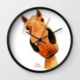 Happy Horse ' NuGGeT ' by Shirley MacArthur Wall Clock