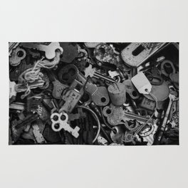Black and White Keys Rug