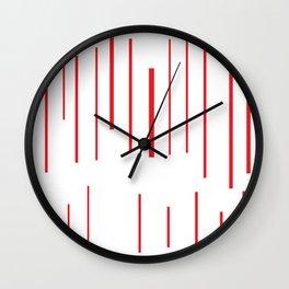 ratlla roja Wall Clock