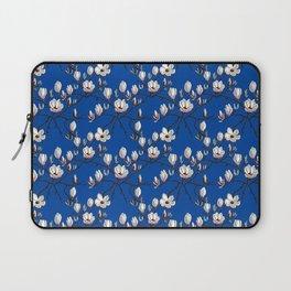 Magnolia blue floral Laptop Sleeve