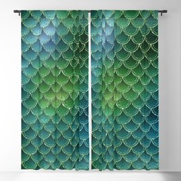 Mermaid Scales Ombre Glitter 6 Blackout Curtain