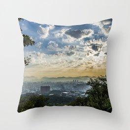 Seoul Sunrise (Namsan) Throw Pillow