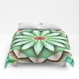 Green in Dimension Flower Kaleidoscope Comforters