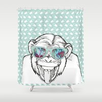 monkey Shower Curtains featuring Monkey by naidl