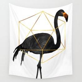 Black Flamingo - Tropical Wall Decor - Flamingo Posters - Exotic, Black, Gold, Modern, Minimal Wall Tapestry