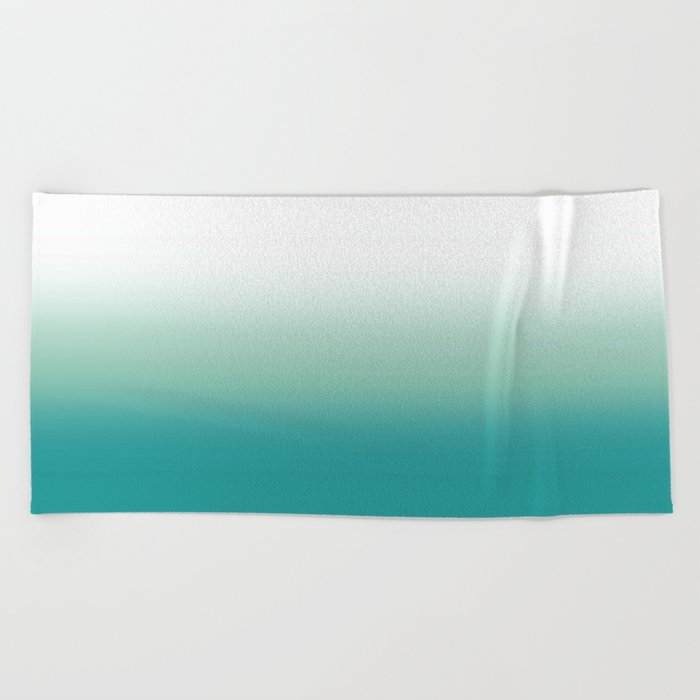 Stormy Sea Ombre Beach Towel